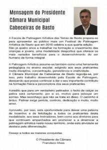 mensagem do presidente_camara